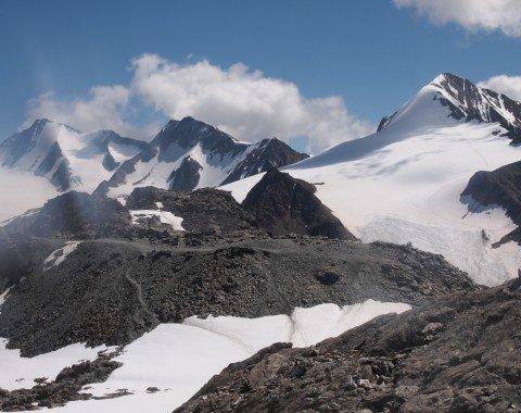 Nur von der Ötzifundstelle aus kann man den Blick über die Ötztaler Alpen so genießen
