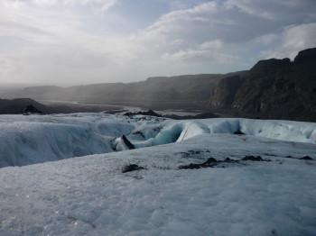 Der Mýrdalsjökull Gletscher
