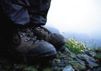 Feste Bergschuhe gehören zu deiner Ausrüstung.