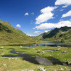 Eingebettet liegen die Giglachseen zwischen den Bergspitzen