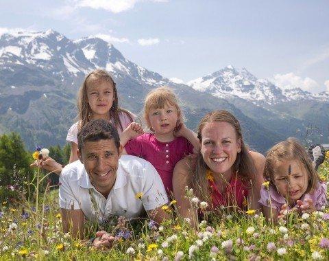 Familienwanderung im Engadin