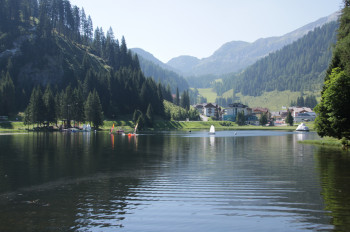 Blick auf Zauchensee