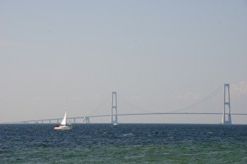 Die Brücke bei Korsør, die über den Belt führt