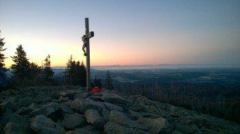Gipfelkreuz am Lusen
