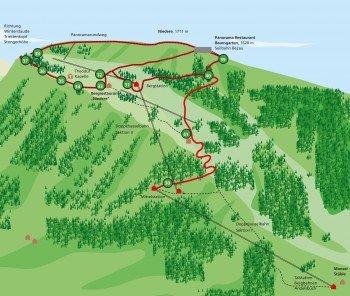 Karte des Panoramawegs