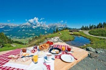 Frühstück am Berg