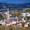 Aussicht auf Zwiesel und die Pfarrkirche