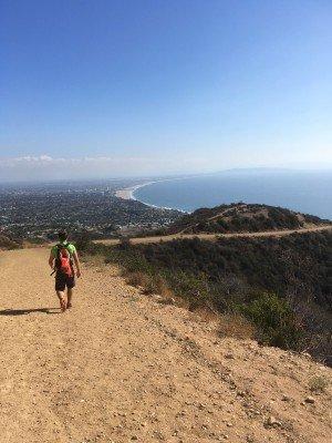 Sicht auf Santa Monica und den Pazifik