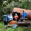Sägewerk-Relikte auf Steward Island