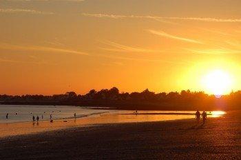 Sonnenuntergang am Strand von Damgan