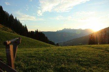 Blick zum Dachstein-Gebirge