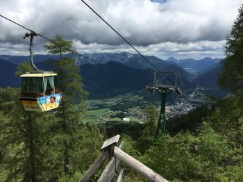 Mit der nostalgischen Katrin Seilbahn geht es von Bad Ischl aus hinauf auf den Berg.