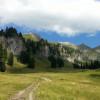 Genieße die Natur auf den vielen Almwiesen während der Wanderung.