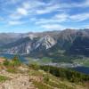 Während der Wanderung Seebodenspitze hast du einen tollen Ausblick Richtung Reschen- und Haidersee.