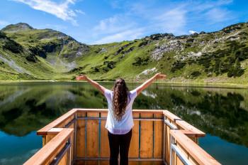 Traumhafte Kulisse am Seekarsee, einem der größten Speicherseen der Alpen.