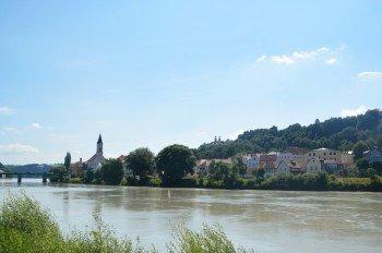 Die Passauer Innstadt ist der einzige Stadtteil rechts des Inns.