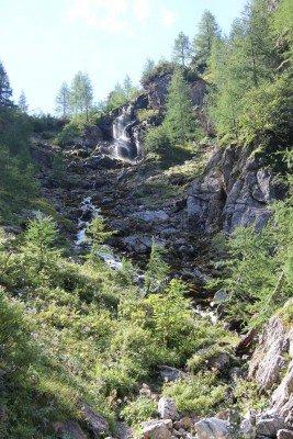 Wasserfall beim Aufstieg zum Tappenkarsee