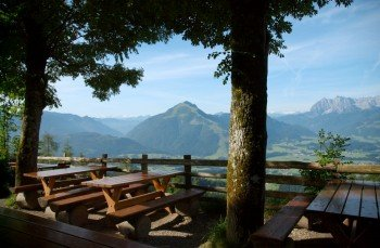 Blick von der Taubensee Hütte