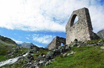 Das Radhaus - ehemalige Bergstation eines Lastenaufzuges