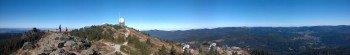 Blick auf den Gipfel des Großen Arber aus Richtung Süden