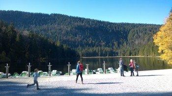 Ausgangspunkt der Wanderung: Der 935m hoch gelegene Große Arbersee