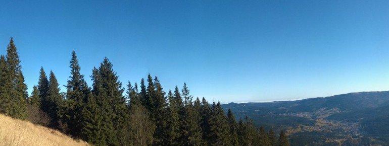 Blick vom Osthang auf Bayerisch- und Böhmisch Eistenstein