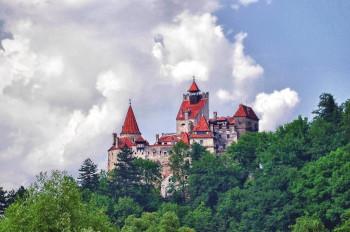 Blick auf Schloss Bran