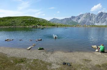 Badesee an der Kaltenberghütte