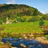 Das idyllische Tal Glendalough mit seiner Klostersiedlung