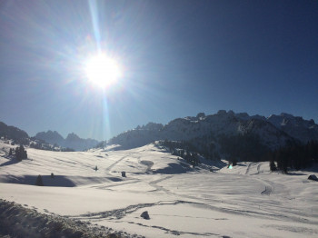 Das Hochplateau der Plätzwiese im Winter