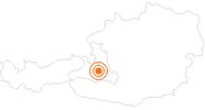 Tourist Attraction Liechtensteinklamm Salzburg's world of sport: Position on map