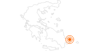 Tourist Attraction Historic Town of Rhodos on Rhodes: Position on map