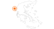 Tourist Attraction Pantokrator Mountain on Corfu: Position on map