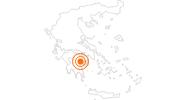 Ausflugsziel Burg Palamidi in Argolis: Position auf der Karte