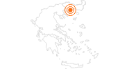 Tourist Attraction Ancient Town of Thasos on Thasos: Position on map
