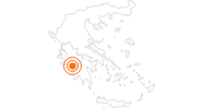 Tourist Attraction Olympia in Elis: Position on map