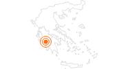 Ausflugsziel Kultstätte Olympia in Elis: Position auf der Karte