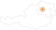 Ausflugsziel Stift Melk in Donau Niederösterreich: Position auf der Karte