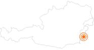 Ausflugsziel Burg Güssing im Südburgenland: Position auf der Karte