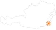 Ausflugsziel Künstlerdorf Neumarkt an der Raab im Südburgenland: Position auf der Karte