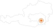 Tourist Attraction art museum Kunsthaus Graz in Region Graz: Position on map