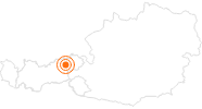 Ausflugsziel Naturschlucht Kundler Klamm in Wildschönau: Position auf der Karte