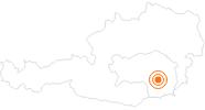 Tourist Attraction Archaeology Museum Schloss Eggenberg Graz in Region Graz: Position on map