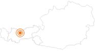 Ausflugsziel Friedensglocke in Mösern in der Olympiaregion Seefeld: Position auf der Karte