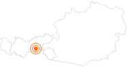 Ausflugsziel Spannagelhöhle im Zillertal: Position auf der Karte