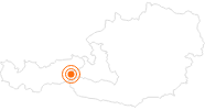 Tourist Attraction Krimml Waterfalls in the Nationalpark Hohe Tauern: Position on map