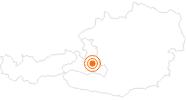 Ausflugsziel Mountainbikepark Wagrain in der Salzburger Sportwelt: Position auf der Karte