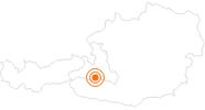 Ausflugsziel Slackline Park im Gasteinertal: Position auf der Karte