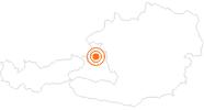 Ausflugsziel Salzwelten Salzburg bei Hallein in Salzburg & Umgebungsorte: Position auf der Karte