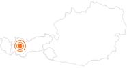 Ausflugsziel Museum im Ballhaus Imst in der Ferienregion Imst: Position auf der Karte